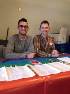 Tyler Wolfe (left) and Alexey Berlind of the Human Rights Center (right).